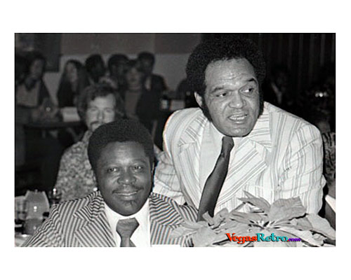 Comedian Slappy White at a party with BB King in 1971