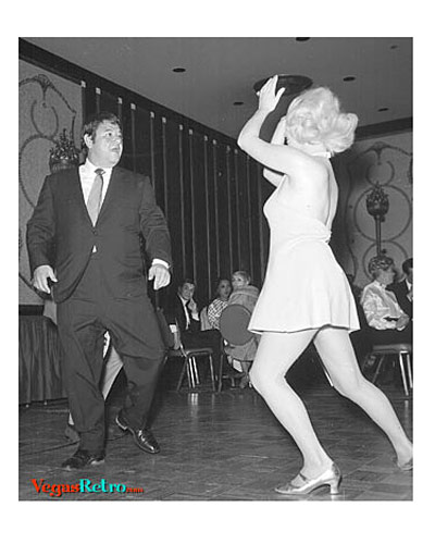 Photo of Buddy Hackett & Dance Partner at Sinatra party in 1969