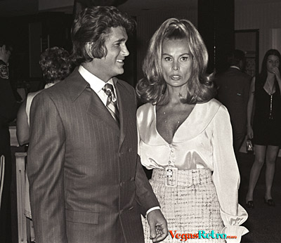 Michael Landon and wife at Caesars Palace party