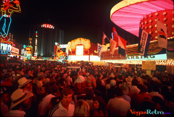 Downtown Las Vegas crowd for Mint 400 party
