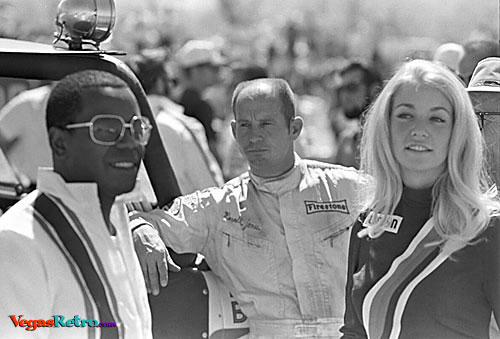 Flip Wilson and Parnelli Jones at the Mint 400 1970