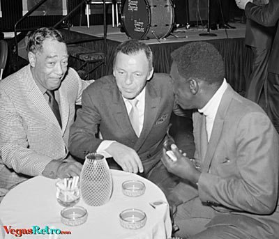 Frank Sinatra  & Duke Ellington at party