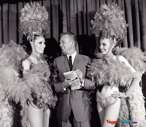 Photo of Mel Larson with Silver Slipper showgirls 1968
