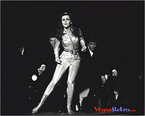 Photo of Ann Margret on stage in Las Vegas 1967
