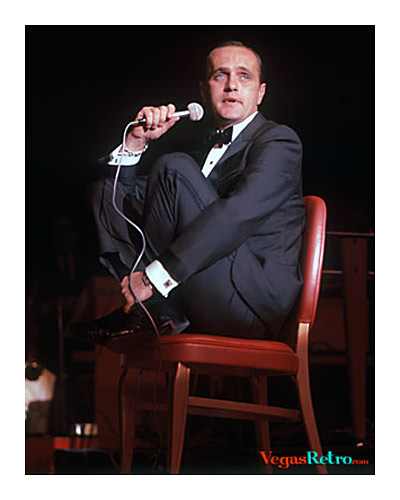 Photo of  Bob Newhart live on stage in Las Vegas