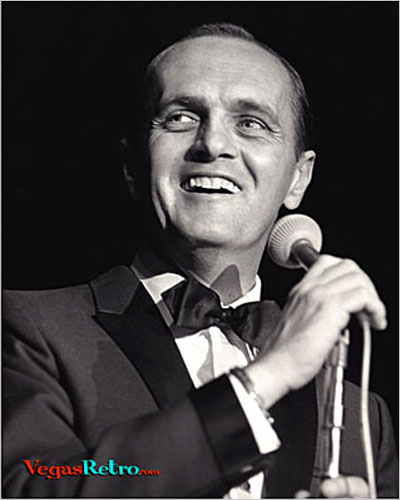 Photo of Bob Newhart on Las Vegas stage