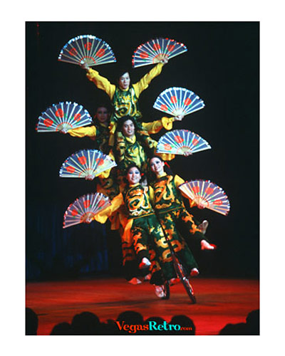 Image of Chinese Circus entertainers at Las Vegas Hilton