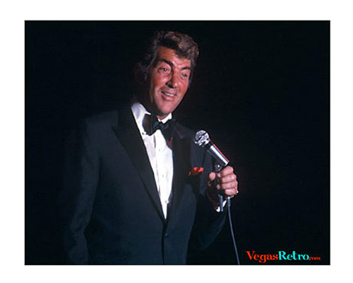 Photo of Dean Martin on stage in Las Vegas