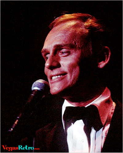 Photo of comedian Frank Gorshin live on the Las Vegas stage