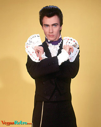 Photo of a young Lance Burton, Las Vegas magician