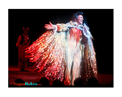Liberace live on stage in Las Vegas