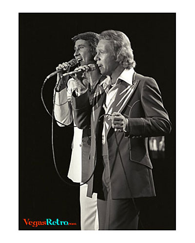 The Righteous Brothers on Las Vegas stage 1975