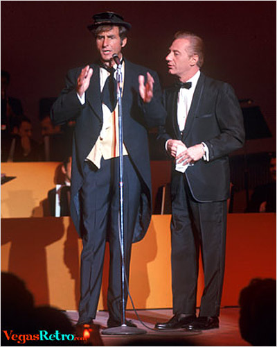 Photo of Sid Caesar live on stage in Las Vegas in 1967