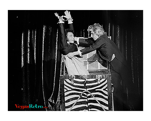 Photo of Siegfried & Roy on stage at the MGM Grand