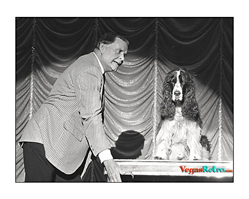 Photo of comic & dog from Tropicana Hotel show