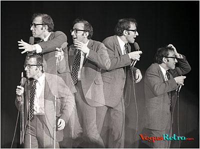 Photo of Woody Allen on stage in Las Vegas