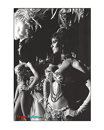 Image of famous Folies Bergere Showgirls in Las Vegas 1969
