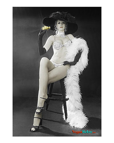 Photo of Janet Boyd as a Minsky's Showgirl