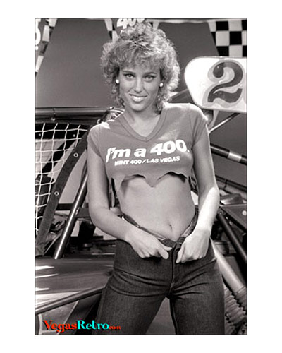 Photo of Mint 400 Girl Tracy Morrison in 1983