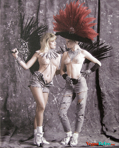 Photo of Folies Bergere Showgirls detail on canvas