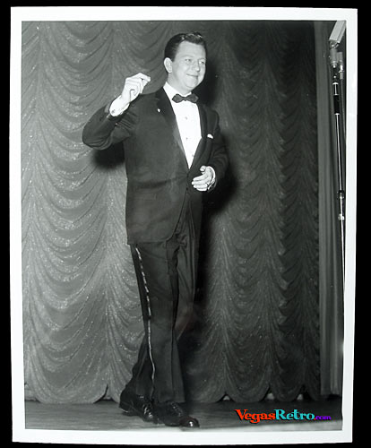Photo of Donald O'Connor on a Las Vegas stage