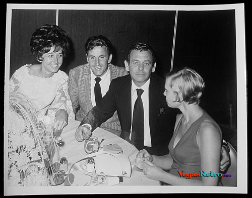 Photo of Robert Stack & David Janssen at a Las Vegas party