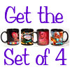 Vegas Retro Ceramic Mug Set