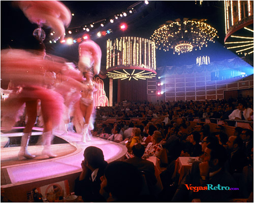Image of the Folies Bergere in Las Vegas with audience showing