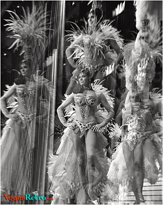 Image Folies Bergere Showgirls from the Tropicana in Las Vegas
