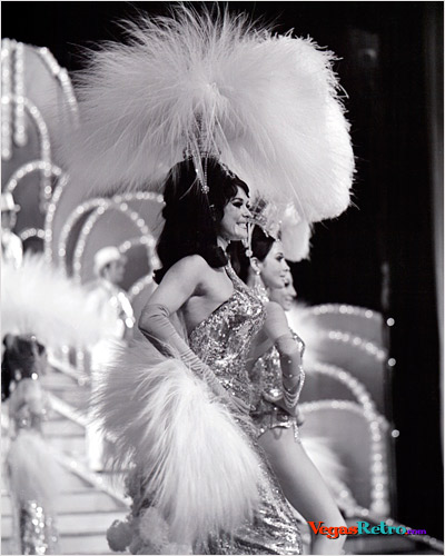 Folies Bergere Showgirls on stage at the Tropicana Hotel
