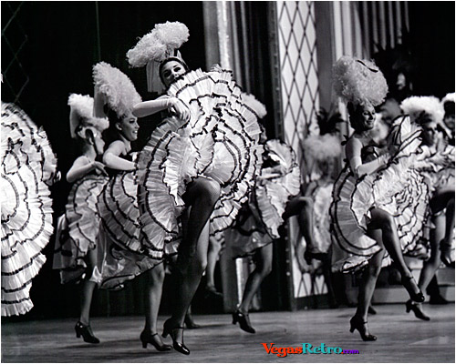 Image of cancan dancers from Folies Bergere in Las Vegas