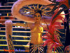 Showgirl in big hat from Hallelujah Hollywood in Las Vegas