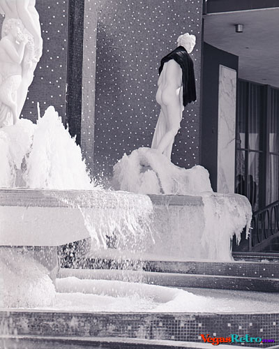 Frozen waterfall at Caesars Palace in 1969