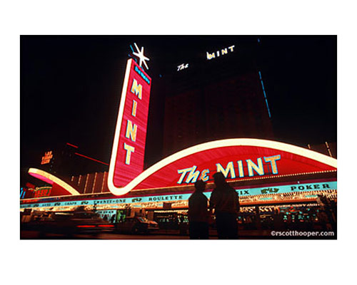 Photo of the Mint Hotel in downtown Las Vegas 1980's