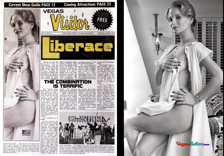 Photo of Alice Friedland AKA Alexis on the Vegas Visitor Cover