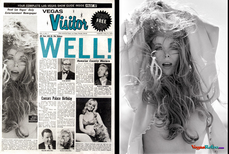 Angelique Pettyjohn photo on the VEGAS VISITOR cover