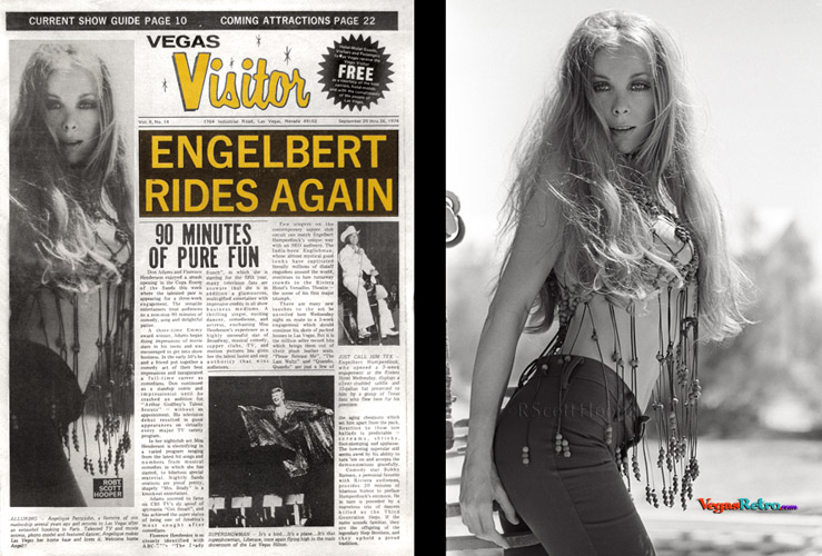 Angelique Pettyjohn on the Vegas Visitor cover Sept 20, 1974