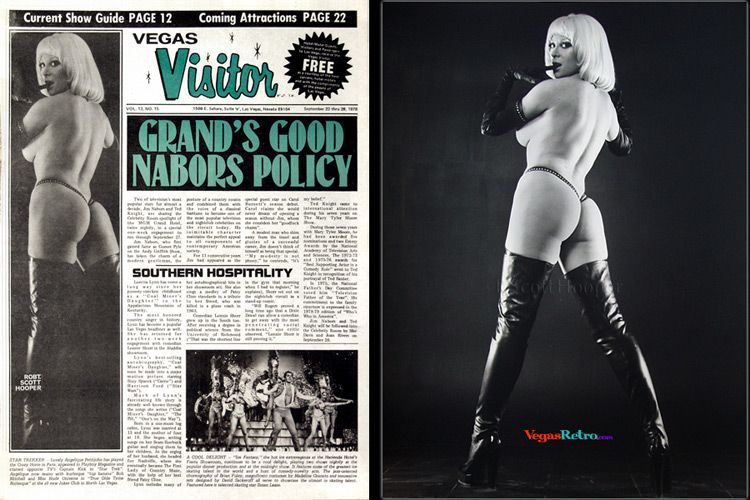 Angelique Pettyjohn Vegas Visitor Cover 9/22/78
