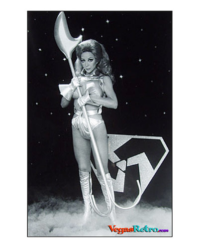 STAR TREK - For all you Trekkies out there, we bring you Shahna from Triscelion - our very own Angelique Pettyjohn show is appearing 3 times nightly at the new Maxim Hotel and Casino.  Having recovered from her bout with Captain Kirk, she now teams up with top banana Bob Mitchell in Ole Tyme Burlesque, a must see on our Vegas Trek.