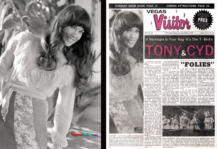 Barbie Benton on the Vegas Visitor Cover 1974