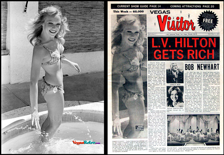 Photo of Candy Valentine on the Vegas Visitor Cover