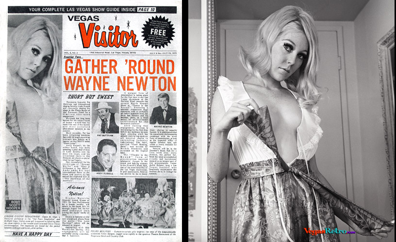 Carye St. Clair on the Vegas Visitor cover