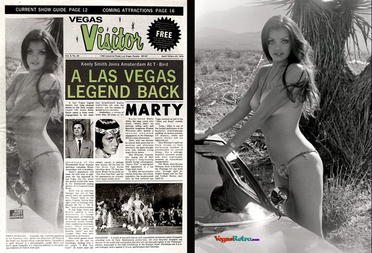 Image of Cassandra Lee on the Vegas Visitor Cover