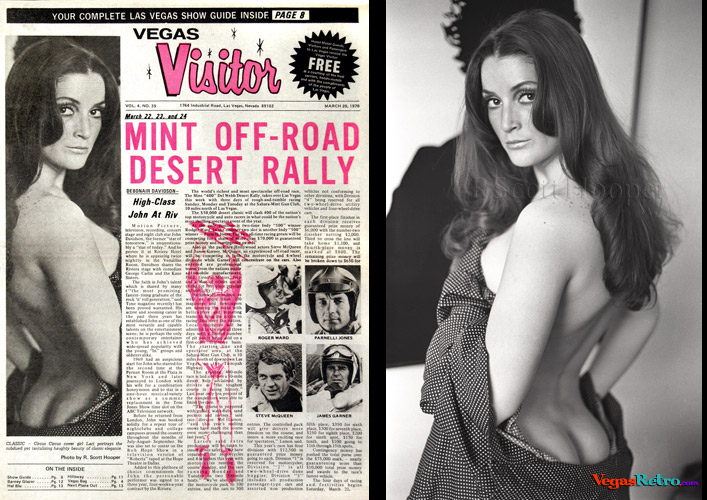Photo of Cathi Laci on the Vegas Visitor cover 3/20/70