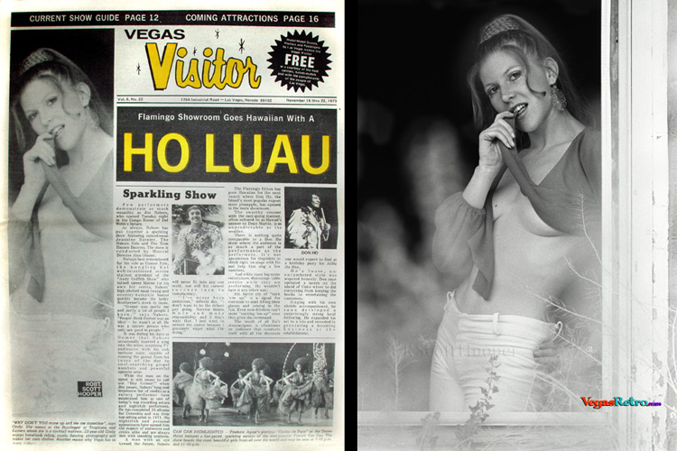 Cindy Morse on the Vegas Visitor cover