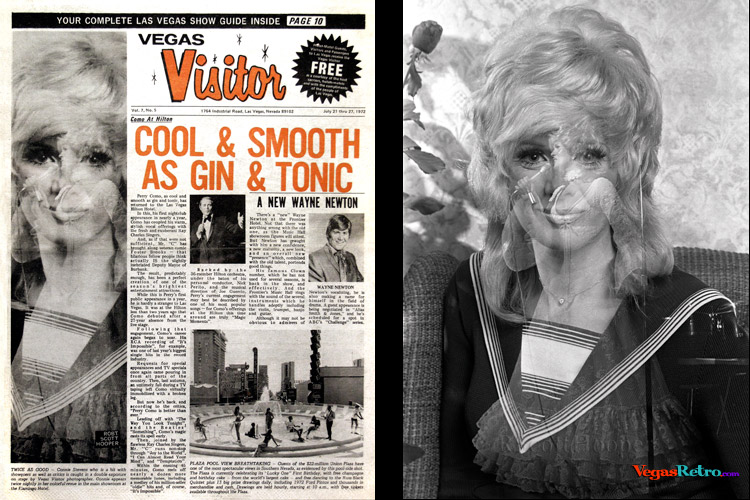 Photo of Connie Stevens on the Vegas Visitor Cover