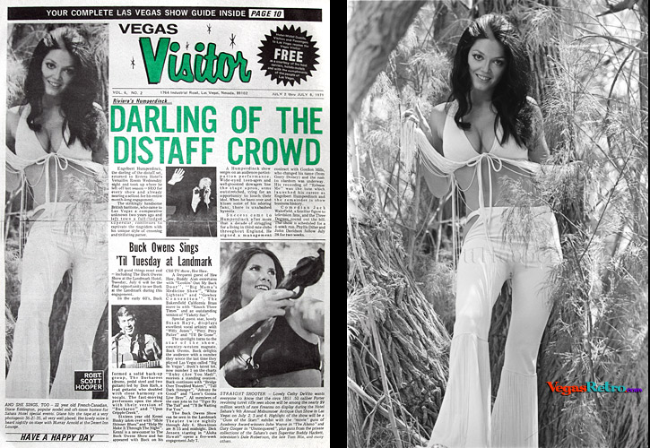 Diane Eddington on the Vegas Visitor cover