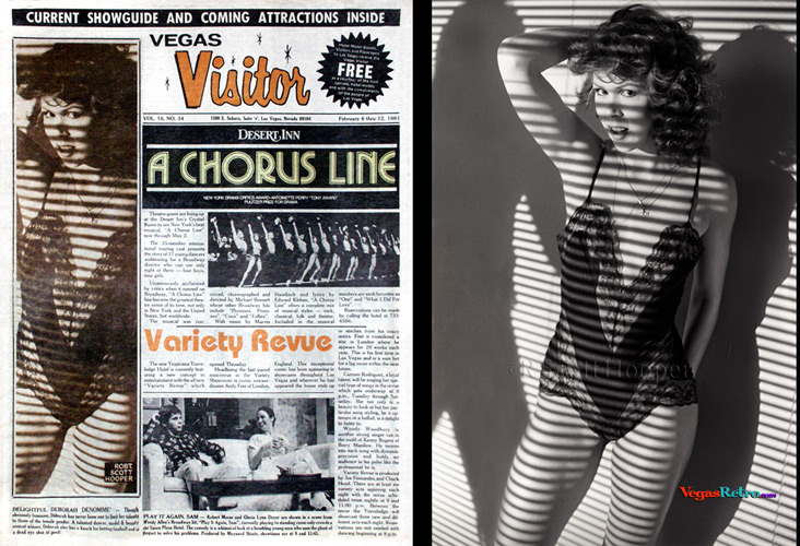 Photo of Deborah Denomme' on the Vegas Visitor cover
