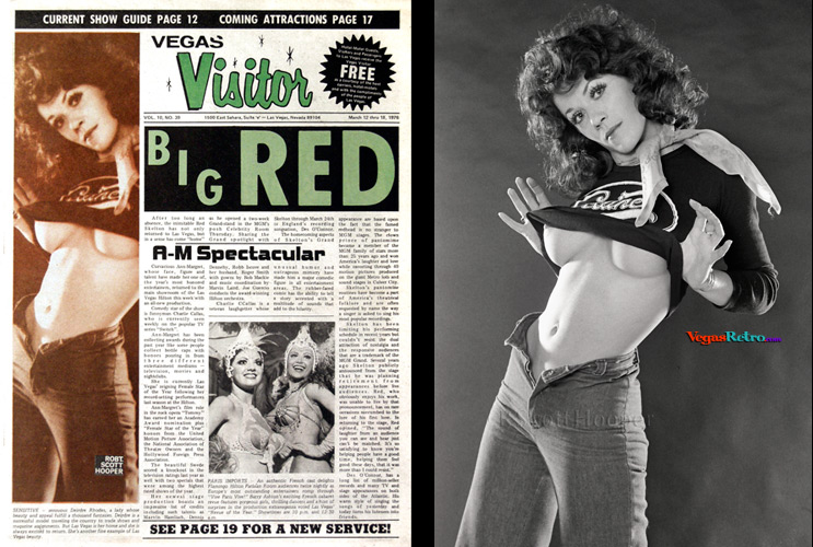 Photo of Deirdre Rhodes on the Vegas Visitor Cover