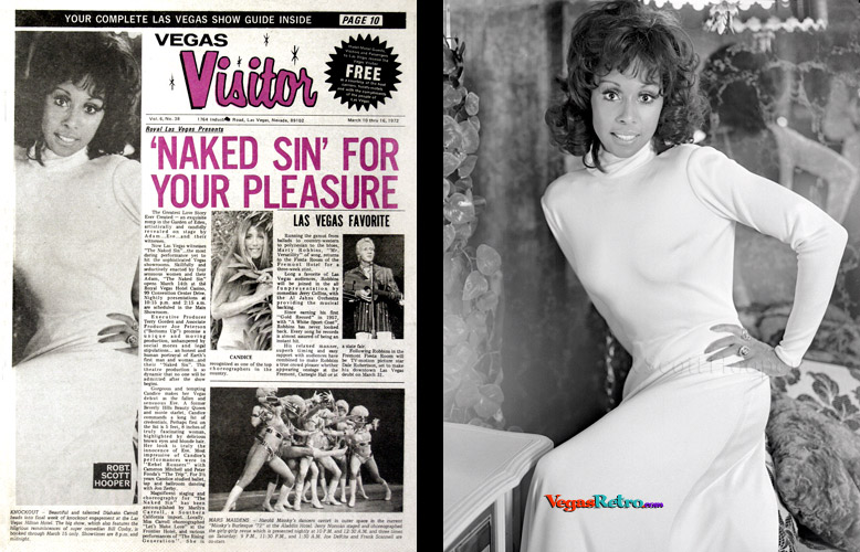 Photo of actress Diahann Carroll on the Vegas Visitor Cover